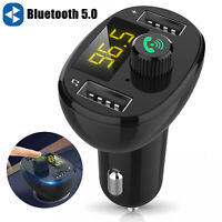 Car Bluetooth FM Transmitter Wireless Radio Adapter Mp3 Player 3.1A USB Charger