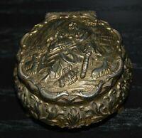 Vintage Small Metal Ornate Jewelry / Trinket Box Japan Rare
