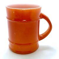 VINTAGE ORANGE ANCHOR-HOCKING FIRE KING OVEN PROOF COFFEE CUP MUG BARREL 18