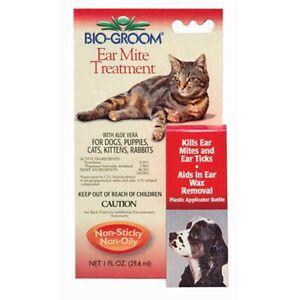 Pet Ear Tick & Mite Treatment Drops Safe Aloe Natural Dog Cat Rabbit Formula