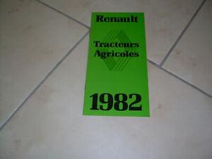 RENAULT TRACTEUR GAMME DE 1982