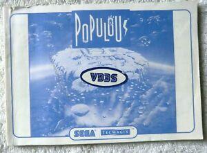52689 Instruction Booklet - Populous - Sega Master System (1989)