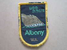 Dog Rock Albany Woven Cloth Patch Badge