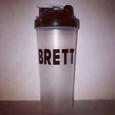 Personalised Protein Shaker Gym Fitness Bottle Any Name Black One Supplied