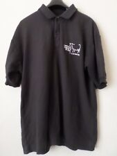 Mens Black Jerzees Polo Shirt T-Shirt Top  Size: M