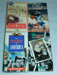 History Baseball VHS 8 Men Out When Game Italian Americans Leading World Lot 4