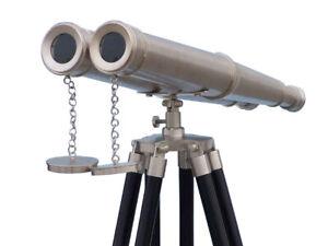 Floor Standing Admirals Bronzed Nickel Binoculars 18 Inch
