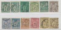 FRANCOBOLLI 1876/81 FRANCIA SAGE Z/895