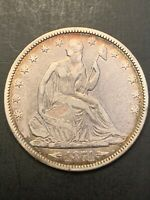 """USA Silver Half Dollar """"Seated Liberty"""" 1874 Coin⚜️⚛️💠KM# 107"""