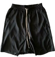 RICK OWENS 'VICIOUS S/S 14' BLACK DROPPED CROTCH SHORTS, 8 US, $895