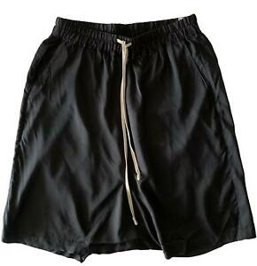 RICK OWENS 'VICIOUS S/S 14' BLACK DROPPED CROTCH SHORTS, 8 US, $895