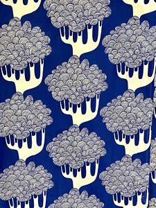 IKEA Kajsamia BLUE White Tree Pair Curtain Panel Grommet Heavy Canvas 2