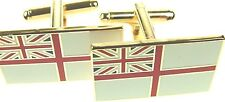 ROYAL NAVY WHITE ENSIGN CLASSIC HAND MADE GOLD PLATED REGIMENTAL CUFFLINKS