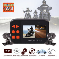 DV188 Waterproof Motorcycle Camera Mount 1080P Dual Lens Dash Cam Video Recorder