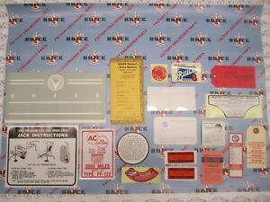 1958 Buick 2BBL Engine & Interior Decal & Tag Kit | Set of 18