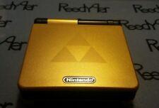 Gold & Black Zelda Triforce Gameboy Advance SP *MINT* Nintendo system AGS-001 gb