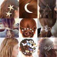 Fashion Metal Women Flower Starfish Butterfly Hairpin Hair Clip Hair Accessories