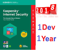KASPERSKY Internet Security 2018-2019   1 Pc 1 Year  - Instant Delivery ⚡️  -