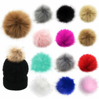 12Pcs 10cm PomPom Ball Faux Fox Fur Fluff Balls for Pom Pom Hat Accessories New