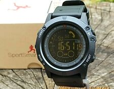 Digital All Black Military Style Sports Smart Watch Activity Tracker iOS ANDROID