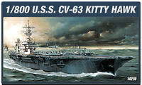 1/800 U.S.S.CV-63 KITTY HAWK #14210 ACADEMY PLASTIC MODEL