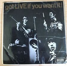 "The Rolling Stones - Got LIVE If You Want It! 45rpm 7""  EP (Decca DFE-8620, UK)"