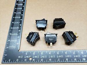 (5 pcs)TIGA51-6S-BL-MBL Carlingswitch, 15A 125vac SPST, Full Sized Rocker Switch