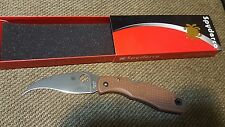 NIB Spyderco C12PBN Matriarch brown flat ground plain edge knife - SPRINT RARE
