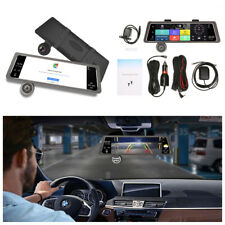 "4G 10"" IPS GPS Dual Lens Android 5.1 Car Rearview Mirror DVR Recorder Camera Kit"