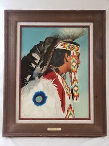 Barbara Sullivan Oil on Canvas Native American Portrait His American Heritage