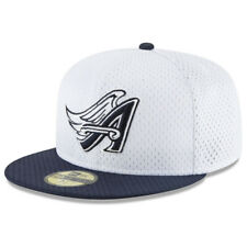 NEW ERA MLB Los Angeles Angels 59FIFTY Retro Classic Fitted Hat Cap  Logo White