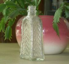 Vintage DUG Clear BOTTLE EMBOSSED Ridged Bumps Poison Knox Co J in Keystone OLD