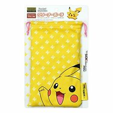 Pocket Monster Pikachu Cleaner Purse Bag Pouch for New Nintendo 3DS LL XL