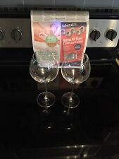 "New listing Set Of 2 Long Clear Wine Glasses 10"""