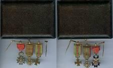 Médaille en réduction - Chaînette gala 3 réductions Légion d'honneur 6 brillants