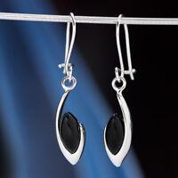 Onyx Silber 925 Ohrringe Damen Schmuck Sterlingsilber H0589