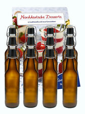 6 Leere Glasflaschen mit Bügelverschluss Bügelflasche Braun 0,5 L 500 ml Bier