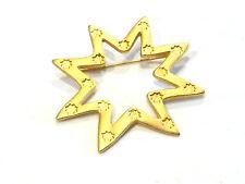 Bijou alliage doré broche signée Lancôme Paris brooch idéale pour cadeau