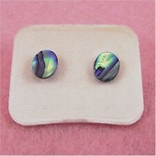 Paua Jewelry - Pd Plated Oval Stud Earrings (PE412)