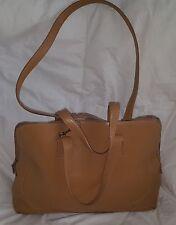 Cole Haan Handbag Leather Convertible Large Tote Shoulder Crossbody Bag Tan