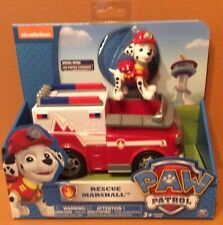 Paw Patrol Rescue Marshall Vehicle with Figure New 6 inch Vehicle