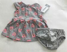 New Carter's Girls Heart  Jersey Dress Size Newborn