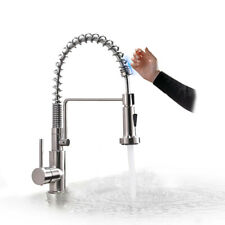 Touch Kitchen Sink Faucet Pull Out Sprayer Swivel Spout Deck Mounted Mixer Tap