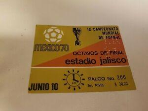 Original soccer FIFA WORLD CUP 1970 TICKET Brazil v ROMANIA  PELE 2 GOALS