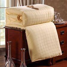 100 Silk Filled Quilt Doona Coverlet Duvet Comforter Blanket Bedspread King / Summer Weight