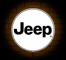 JEEP BADGE SIGN LED LIGHT BOX MAN CAVE GARAGE WORKSHOP GAMES ROOM BOYS GIFT