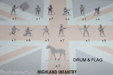 NAPOLEONIC HIGHLAND INFANTRY. SCOTS. AIRFIX BATTLE OF WATERLOO. 1/72 SCALE