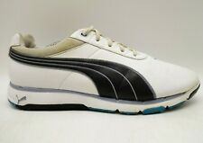 Puma Evertrack White Leather Lace Up Spikeless Golf Sneakers Shoes Men's 11.5