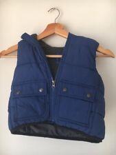 Gilet Gap Age 2 Blue Puffa Fleece Lined Hooded <T14084