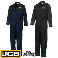 Pro Heavy Duty JCB Mens Work Overalls Coveralls Boiler Suit Boilersuit Mechanics